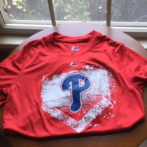 Boys Phillies short sleeve shirt size L